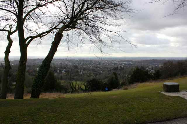 Reigate Hill cloudy