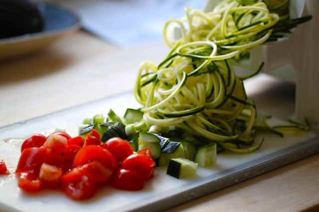 spiraling courgette