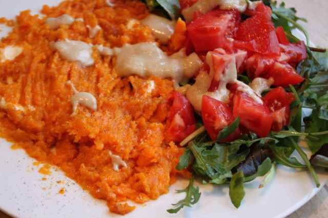 sweet potato and salad