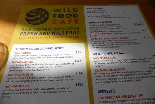 WFC menu