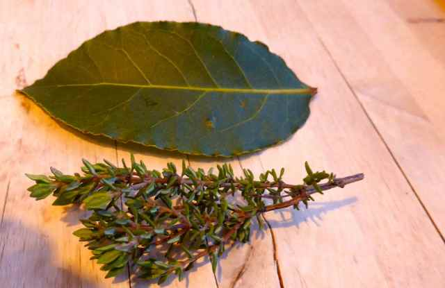 bay leaf and thyme