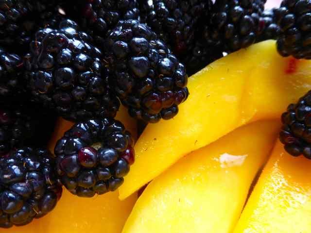 blackberry and mango