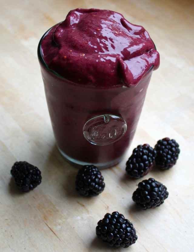 blackberry banana ice-cream