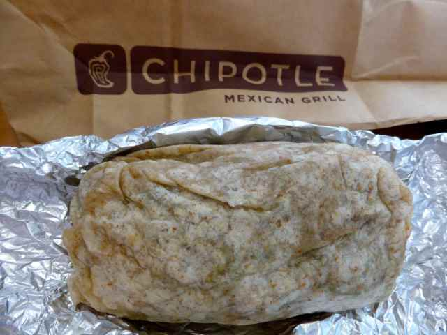 Chipotle vegetable burrito