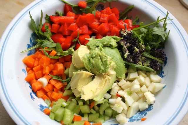 diced veg salad