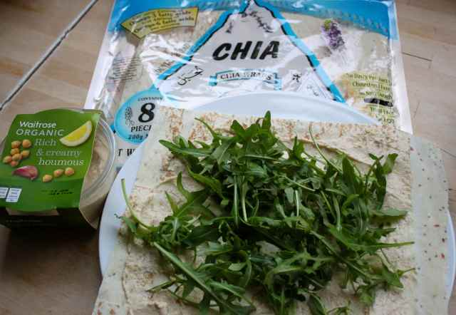 houmous and chia wrap