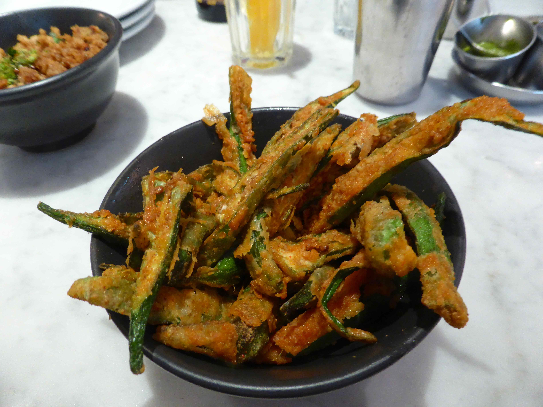 "Okra ""Fries"" Recipe — Dishmaps"