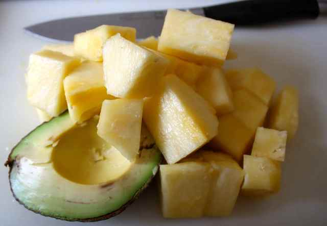 pineapple and avocado