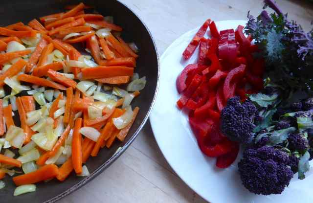 purple red and orange