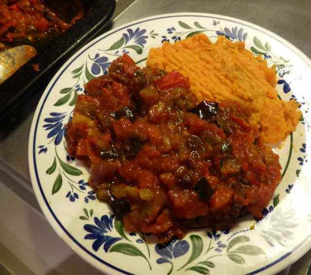 ratatouille and sweet potato