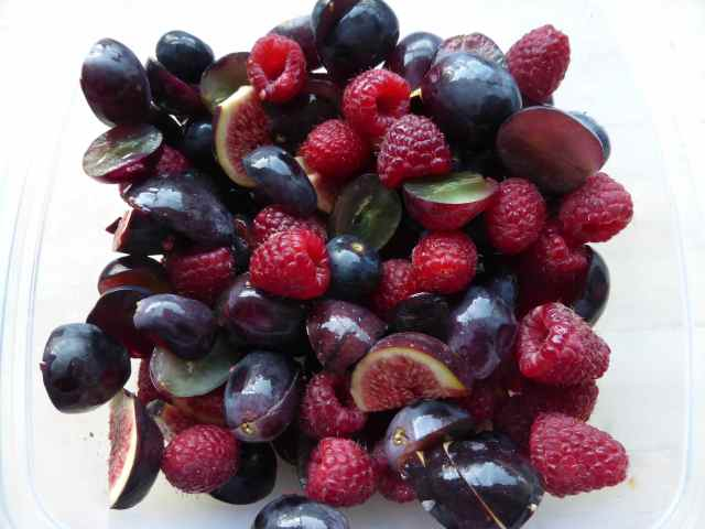 red and purple fruit