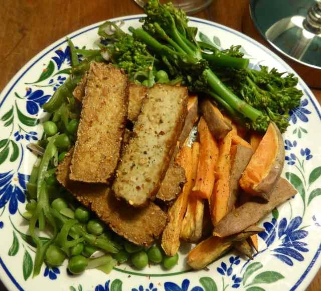 smoked tofu and veg