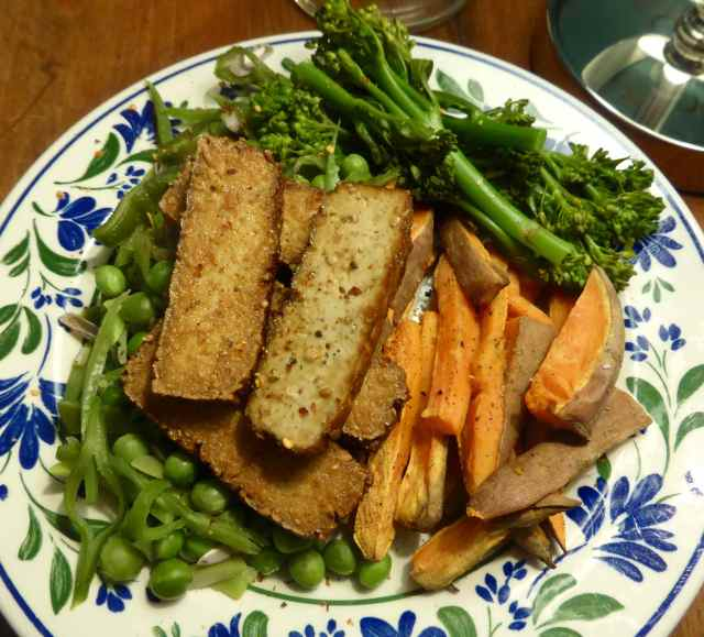 smoked tofu and veg