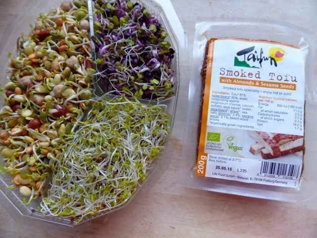 sprouts and tofu