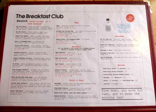 TBC menu