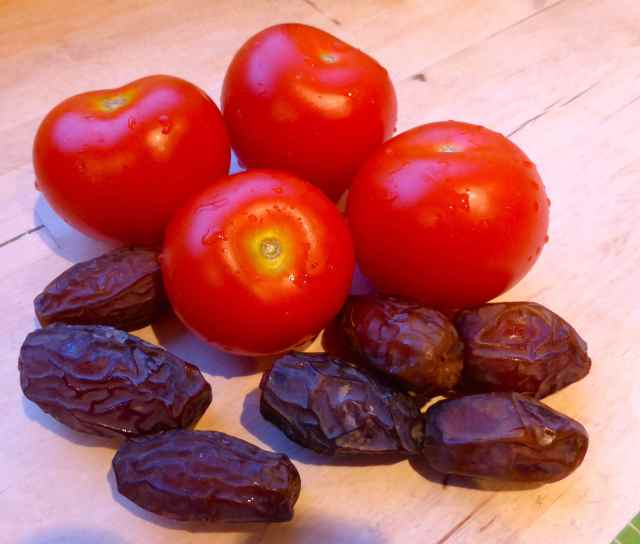 tomatoes and dates