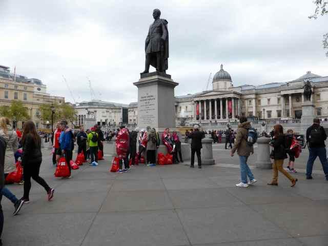 Trafalgar Sq on Marathon day