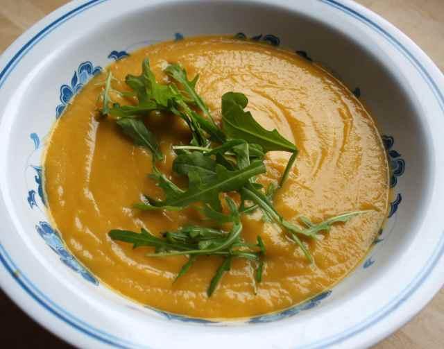 veg soup and rocket