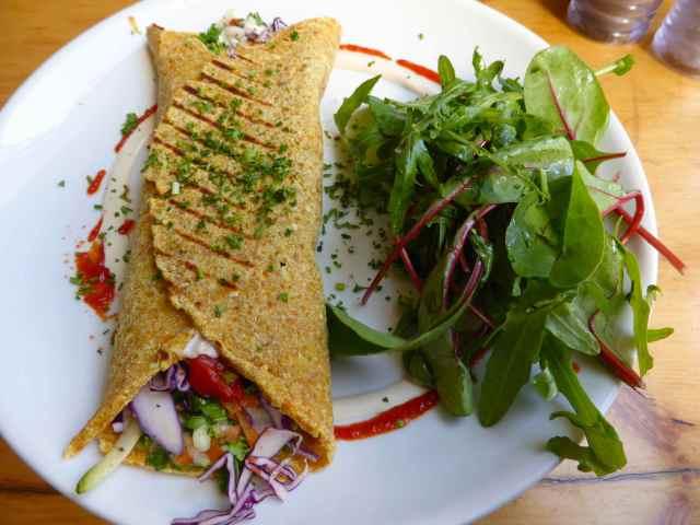 Wild Food Cafe falafel and wrap
