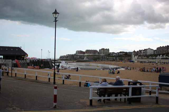 Broadstairs under a cloudy sky