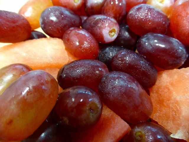 grapes and watermelon