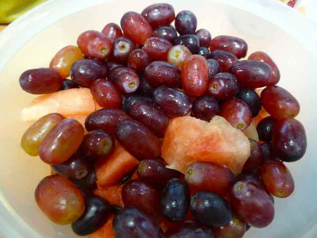grapes watermel