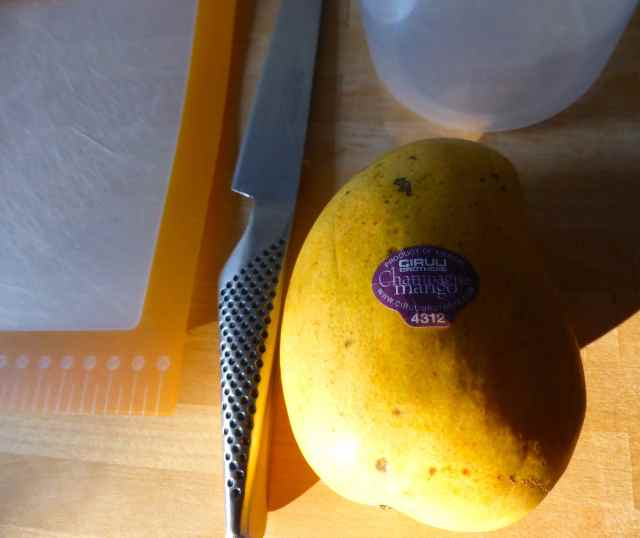 mango in morning light