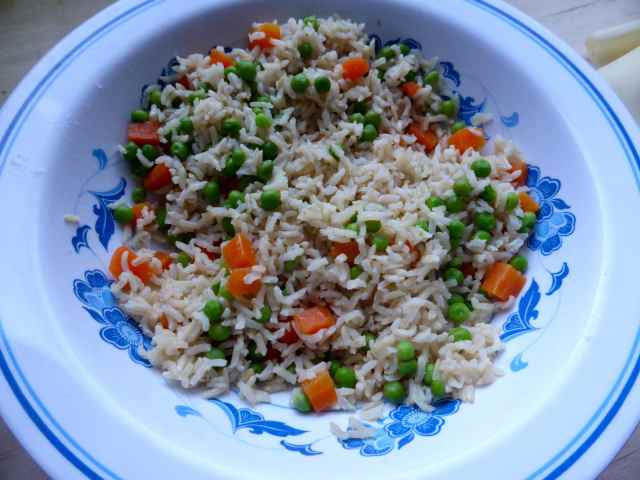 rice and veg