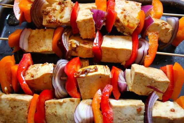 tofu kebabs uncooked