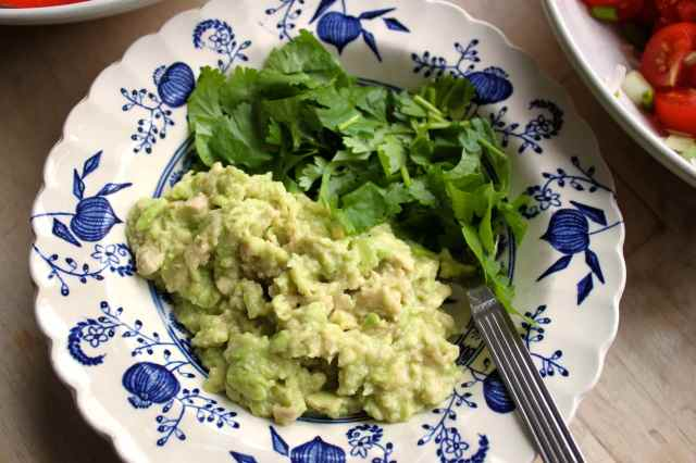 guacamole and coriander