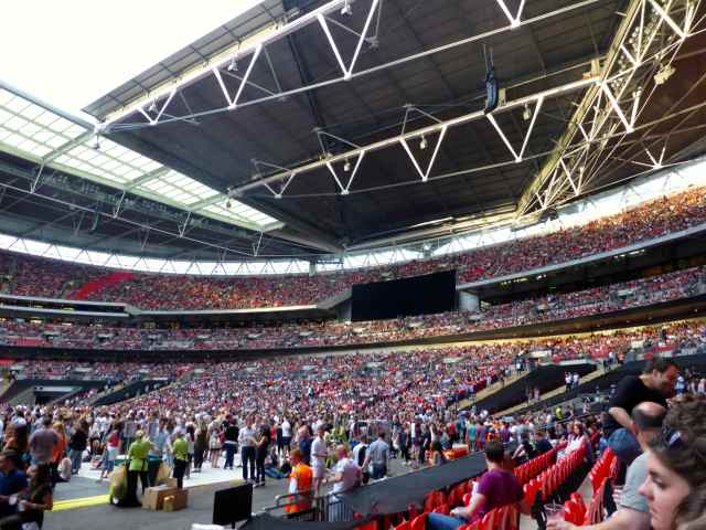 Inside Wembley