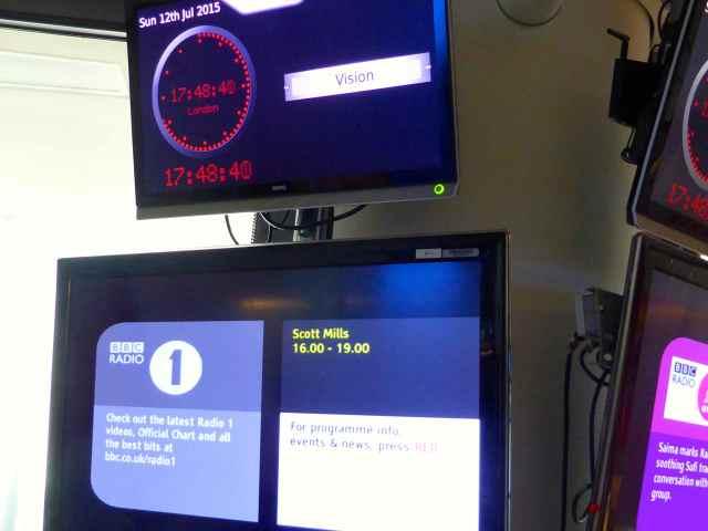 Radio 1 green room