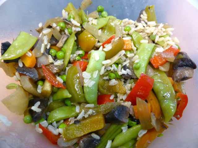 veggies and rice