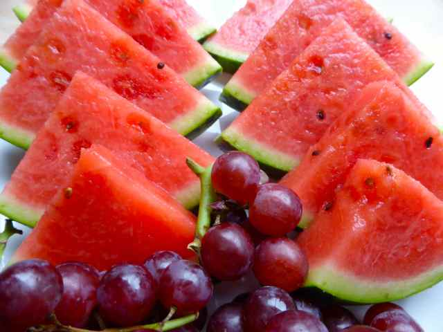 watermelon and grapes 5-7