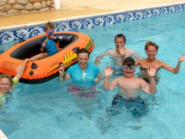 all in he pool