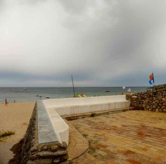 villa on beach