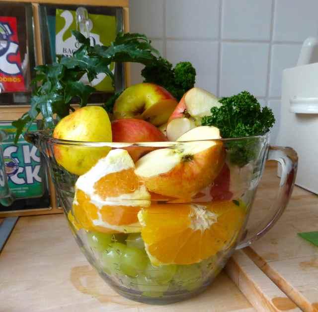 fruit in jug