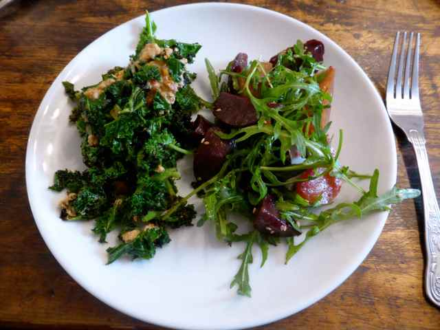 kale and green salad
