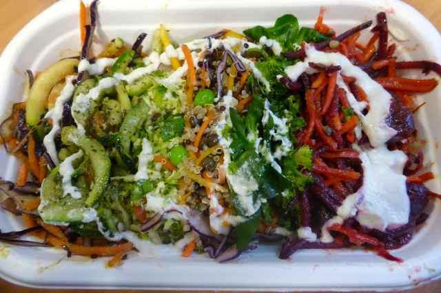 Planet Organic salads