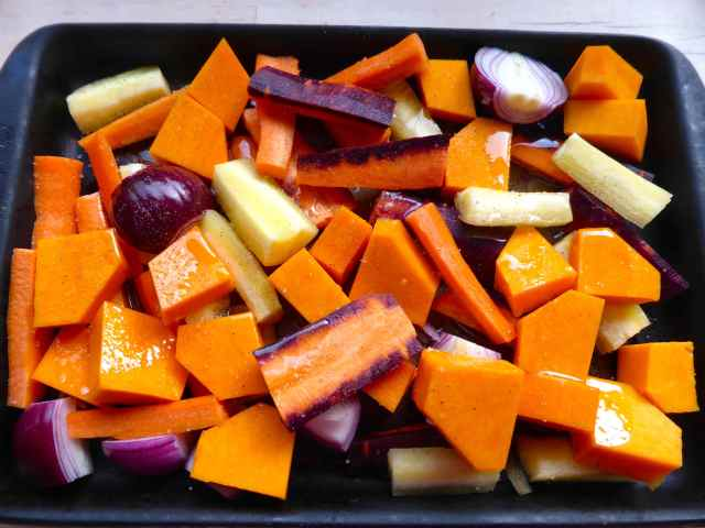 veggies in roasting tray 30-1-16