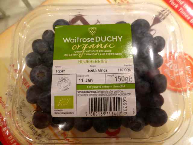 Waitrose blueberries