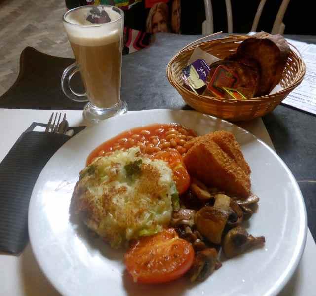 Belgian Bar breakfast