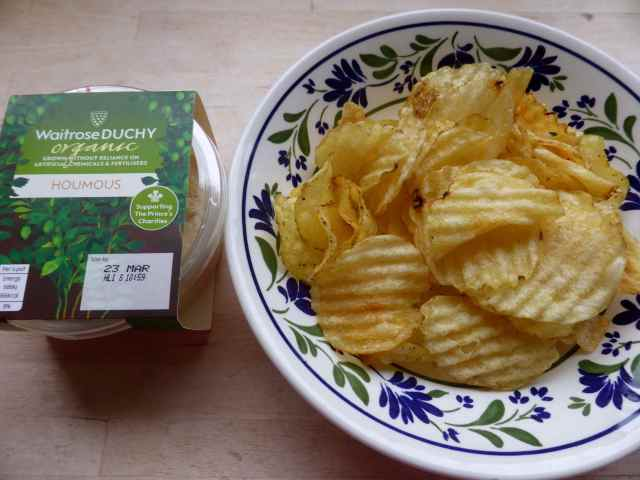 crisps and humous 19-3-16