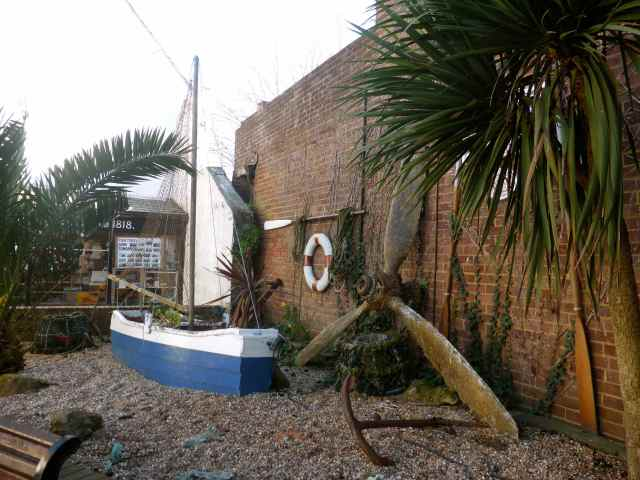Hastings boat and anchor