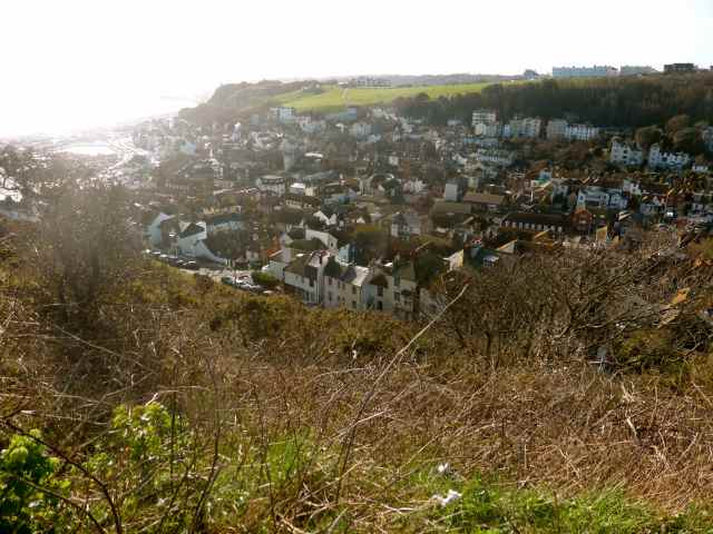 Hastings Old Town from East Cliff