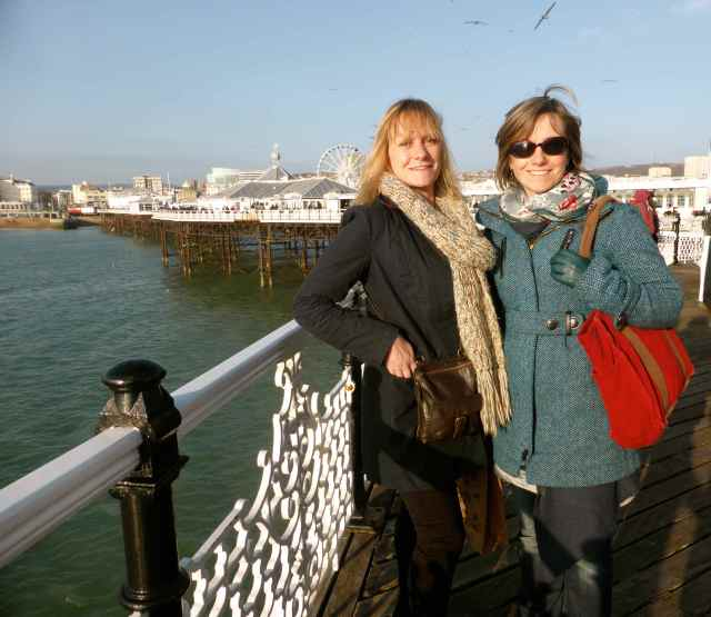 Holly and Abi on the pier