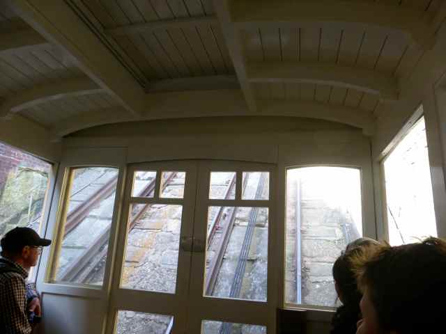 inside the East Cliff lift
