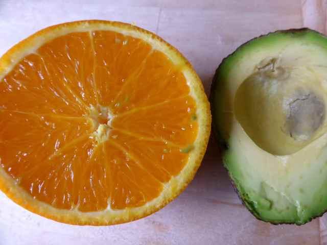 orange and avocado