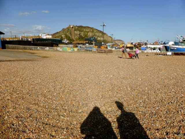 shadows Hastings beach